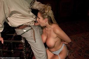 Busty pornstar in sexy corset tied up, g - XXX Dessert - Picture 6