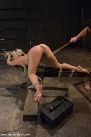 Dominant male uses ropes and black vibra - XXX Dessert - Picture 12