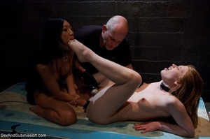 Pale girl and her sexy Asian girlfriend  - XXX Dessert - Picture 11