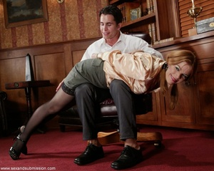 Slender blonde with stockings enjoys in spanking and hard fucking - XXXonXXX - Pic 2