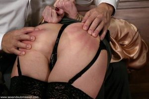 Slender blonde with stockings enjoys in spanking and hard fucking - XXXonXXX - Pic 3