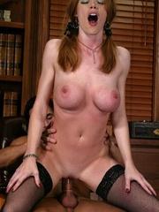 Slender blonde with stockings enjoys in spanking - XXXonXXX - Pic 9