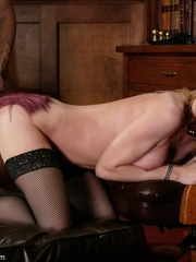 Slender blonde with stockings enjoys in spanking - XXXonXXX - Pic 12