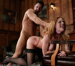 Slender blonde with stockings enjoys in spanking and hard fucking - XXXonXXX - Pic 13