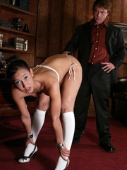 Brunette secretary gets punished by her perverse - XXXonXXX - Pic 3