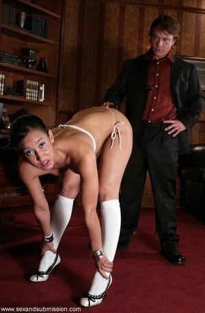 Brunette secretary gets punished by her perverse boss with a big dick - XXXonXXX - Pic 3