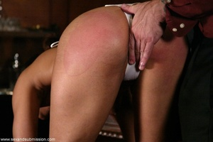 Brunette secretary gets punished by her perverse boss with a big dick - XXXonXXX - Pic 4