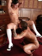Brunette secretary gets punished by her perverse - XXXonXXX - Pic 8