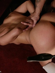 Brunette secretary gets punished by her perverse - XXXonXXX - Pic 11