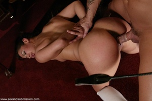 Brunette secretary gets punished by her perverse boss with a big dick - XXXonXXX - Pic 11