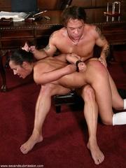 Brunette secretary gets punished by her perverse - XXXonXXX - Pic 12