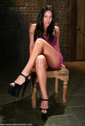 Busty raven haired bitch gets gagged and drilled by a stud - XXXonXXX - Pic 1