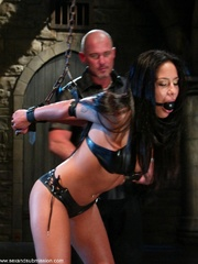 Busty raven haired bitch gets gagged and drilled - XXXonXXX - Pic 3