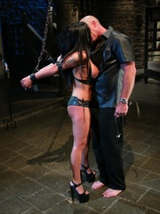 Busty raven haired bitch gets gagged and drilled - XXXonXXX - Pic 5