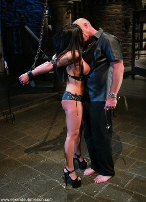 Busty raven haired bitch gets gagged and drilled by a stud - XXXonXXX - Pic 5