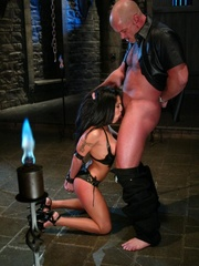 Busty raven haired bitch gets gagged and drilled - XXXonXXX - Pic 7