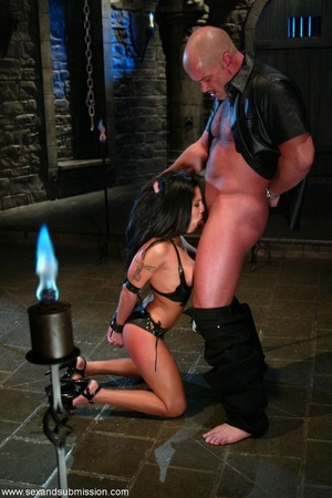 Busty raven haired bitch gets gagged and drilled by a stud - XXXonXXX - Pic 7