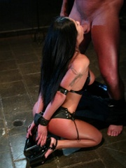 Busty raven haired bitch gets gagged and drilled - XXXonXXX - Pic 8