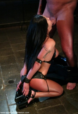 Busty raven haired bitch gets gagged and drilled by a stud - XXXonXXX - Pic 8