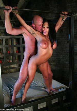 Busty raven haired bitch gets gagged and drilled by a stud - XXXonXXX - Pic 10