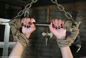 Busty raven haired bitch gets gagged and drilled by a stud - XXXonXXX - Pic 11