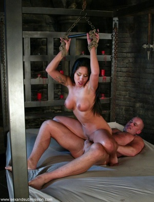 Busty raven haired bitch gets gagged and drilled by a stud - XXXonXXX - Pic 12