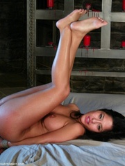 Busty raven haired bitch gets gagged and drilled - XXXonXXX - Pic 14