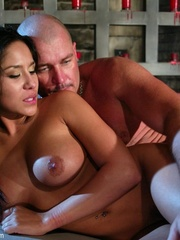 Busty raven haired bitch gets gagged and drilled - XXXonXXX - Pic 17