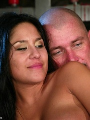 Busty raven haired bitch gets gagged and drilled - XXXonXXX - Pic 18