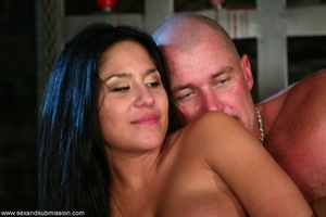 Busty raven haired bitch gets gagged and drilled by a stud - XXXonXXX - Pic 18