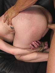 Bald inked hunk fucks a dark haired babe with so - XXXonXXX - Pic 6