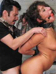 Young brunette slut gets tied up and humiliated by - XXXonXXX - Pic 10