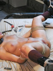 Young brunette slut gets tied up and humiliated by - XXXonXXX - Pic 18