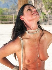 Long haired darling gets tied up, fucked and - XXXonXXX - Pic 8