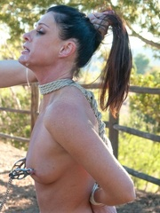 Long haired darling gets tied up, fucked and - XXXonXXX - Pic 14