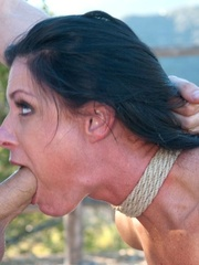 Long haired darling gets tied up, fucked and - XXXonXXX - Pic 17