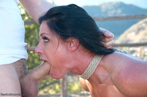 Long haired darling gets tied up, fucked and facialized with pleasure - XXXonXXX - Pic 17