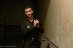 Handsome police agent screws a wonderful brunette in bondage - XXXonXXX - Pic 3