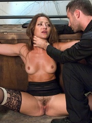 Handsome police agent screws a wonderful brunette - XXXonXXX - Pic 5