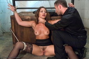 Handsome police agent screws a wonderful brunette in bondage - XXXonXXX - Pic 5