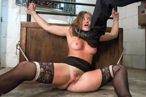Handsome police agent screws a wonderful brunette in bondage - XXXonXXX - Pic 6