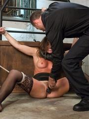 Handsome police agent screws a wonderful brunette - XXXonXXX - Pic 7