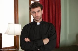 Horny priest screws two young brunettes in bondage - XXXonXXX - Pic 4