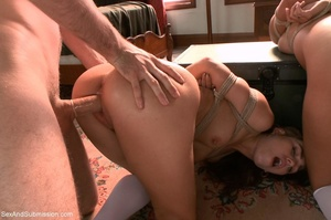 Horny priest screws two young brunettes in bondage - XXXonXXX - Pic 11
