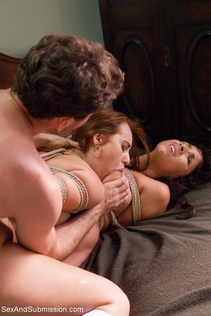 Horny priest screws two young brunettes in bondage - XXXonXXX - Pic 15