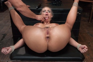 Pig tailed blonde slut gets her gaping ass drilled so hard - XXXonXXX - Pic 17