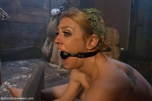 Busty blonde woman gets tied up and screwed with passion - XXXonXXX - Pic 8