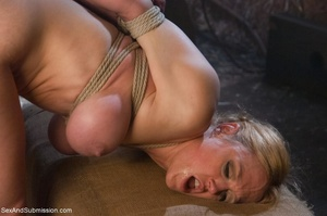 Busty blonde woman gets tied up and screwed with passion - XXXonXXX - Pic 12