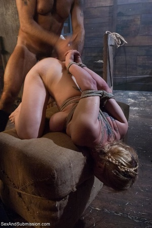 Busty blonde woman gets tied up and screwed with passion - XXXonXXX - Pic 13