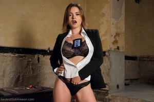 Busty FBI bitch gets tied up and fucked with passion - XXXonXXX - Pic 2